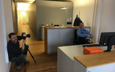 Fotoshooting bei uns im Büro